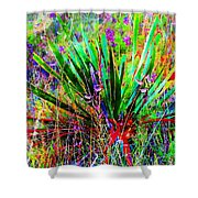 Texas Agave Pee Wee Plant Shower Curtain