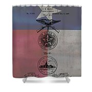 Texas Badge Patent On Texas Flag Shower Curtain