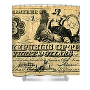 Texas Banknote, 1841 Shower Curtain