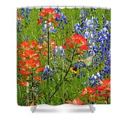 Texas Best Wildflowers Shower Curtain
