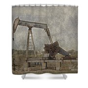 Texas Black Gold Shower Curtain
