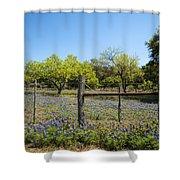 Texas Bluebonnet Lupine Pature Shower Curtain