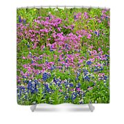 Texas Bluebonnets And Wildflowers Shower Curtain