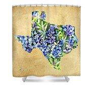 Texas Blues Texas Map Shower Curtain
