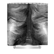 Texas Boots Portrait - Bw 01 Shower Curtain