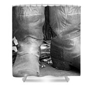Texas Boots Portrait - Bw 02 Shower Curtain