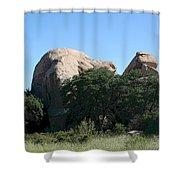 Texas Canyon Megaliths  Shower Curtain
