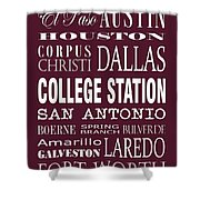 Texas Cities College Station Shower Curtain