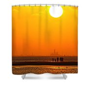 Texas City Sunset 2am-12561 Shower Curtain
