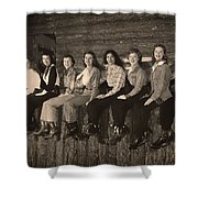 Texas Cowgirls 1950s Shower Curtain