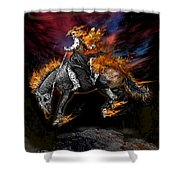 Texas Ghost Rider Shower Curtain
