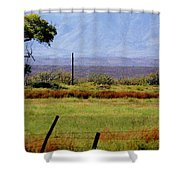 Texas Landscape 16095 Shower Curtain