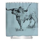 Texas Longhorn Shower Curtain