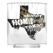 Texas Map Cool Shower Curtain