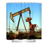 Texas Pumping Unit Shower Curtain by Kathy  White