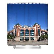 Texas Rangers Ballpark In Arlington Shower Curtain