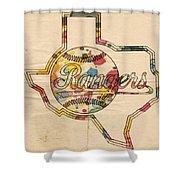 Texas Rangers Logo Vintage Shower Curtain