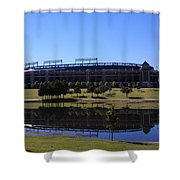 Texas Rangers Reflection Shower Curtain