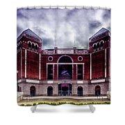 Texas Rangers Ballpark In Arlington Texas Shower Curtain