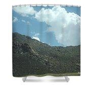 Texas Rock Mountian Shower Curtain
