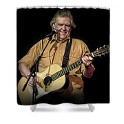 Texas Singer Songwriter Guy Clark In Concert Shower Curtain