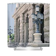 Texas State Capitol North Portico Shower Curtain
