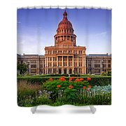 Texas State Capitol Summer Morning - Austin Texas Shower Curtain