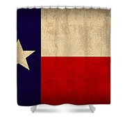 Texas State Flag Lone Star State Art On Worn Canvas Shower Curtain