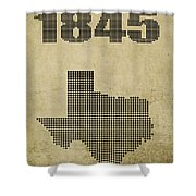 Texas Statehood Shower Curtain