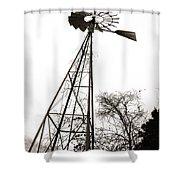 Texas Windmill 2 Shower Curtain