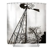 Texas Windmill Shower Curtain