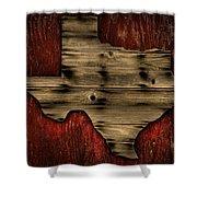 Texas Wood Shower Curtain
