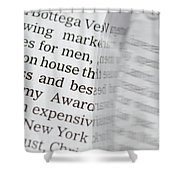 Text And Eyeglasses Shower Curtain