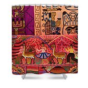 Textiles With Vibrant Colors For Sale Shower Curtain