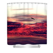 Textured Clouds Shower Curtain