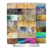 Texture Collage Shower Curtain