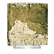 Texture No.2 Beige Version Shower Curtain