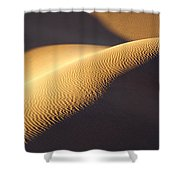 Texture Pattern On Sand Dunes Shower Curtain