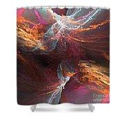 Texture Splash Shower Curtain