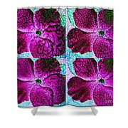 Textured Blossoms Shower Curtain