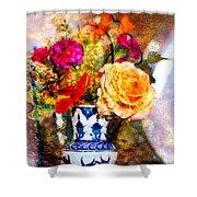 Textured Bouquet Shower Curtain