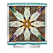 Textured Flower Kaleidoscope Triptych Shower Curtain
