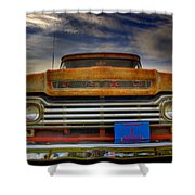 Textured Ford Truck 1 Shower Curtain