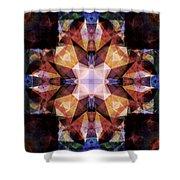 Textured Geometric Mandala Shower Curtain