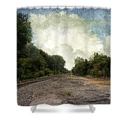 Textured Landscape Shower Curtain
