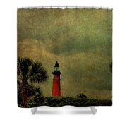 Textured Lighthouse Shower Curtain