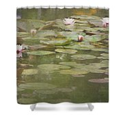 Textured Lilies Image  Shower Curtain