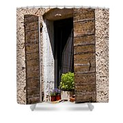 Textured Shutters Shower Curtain