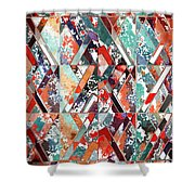 Textured Structural Abstract Shower Curtain