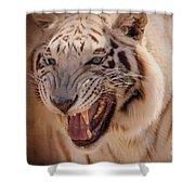 Textured Tiger Shower Curtain